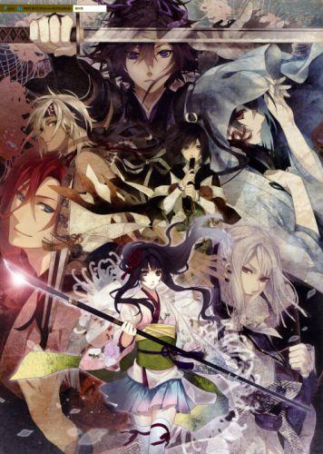 kenga kimi group anime sword characters wallpaper