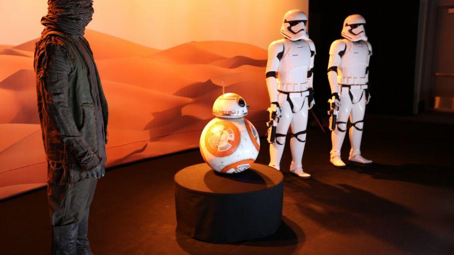 STAR WARS FORCE AWAKENS sci-fi futuristic action adventure 1star-wars-force-awakens disney robot wallpaper