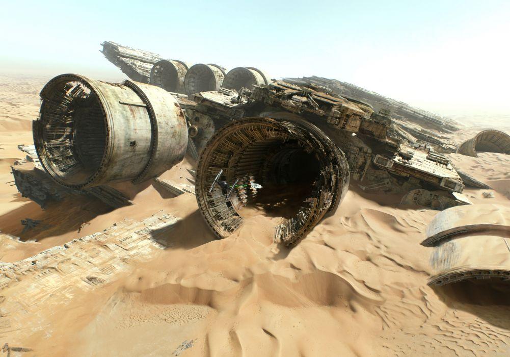 STAR WARS FORCE AWAKENS sci-fi futuristic action adventure 1star-wars-force-awakens disney spaceship space wallpaper