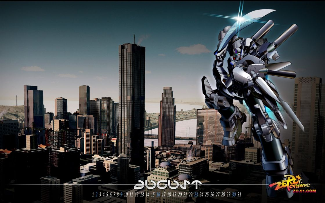 ZERO ONLINE sci-fi mmo rpg mecha action fighting warrior 1zeroo poster calendar wallpaper