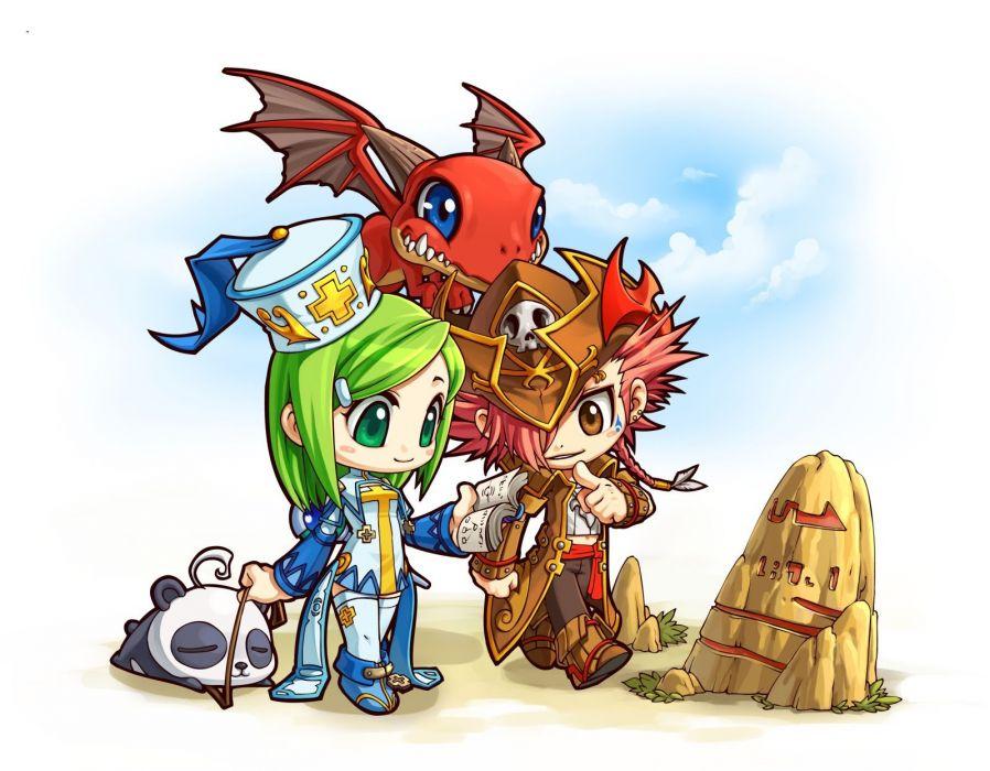 WONDERKING ONLINE anime manga mmo rpg scrolling fantasy 1wonder adventure chibi exploration action fighting wallpaper