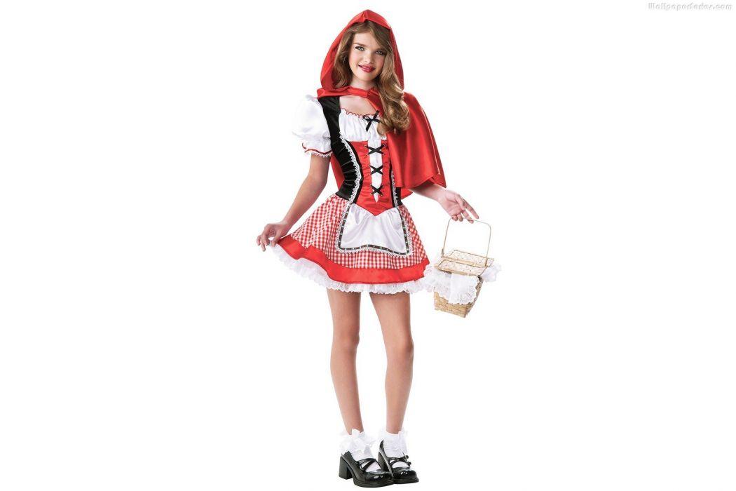 COSPLAY - Girl blonde Little Red Hood wallpaper
