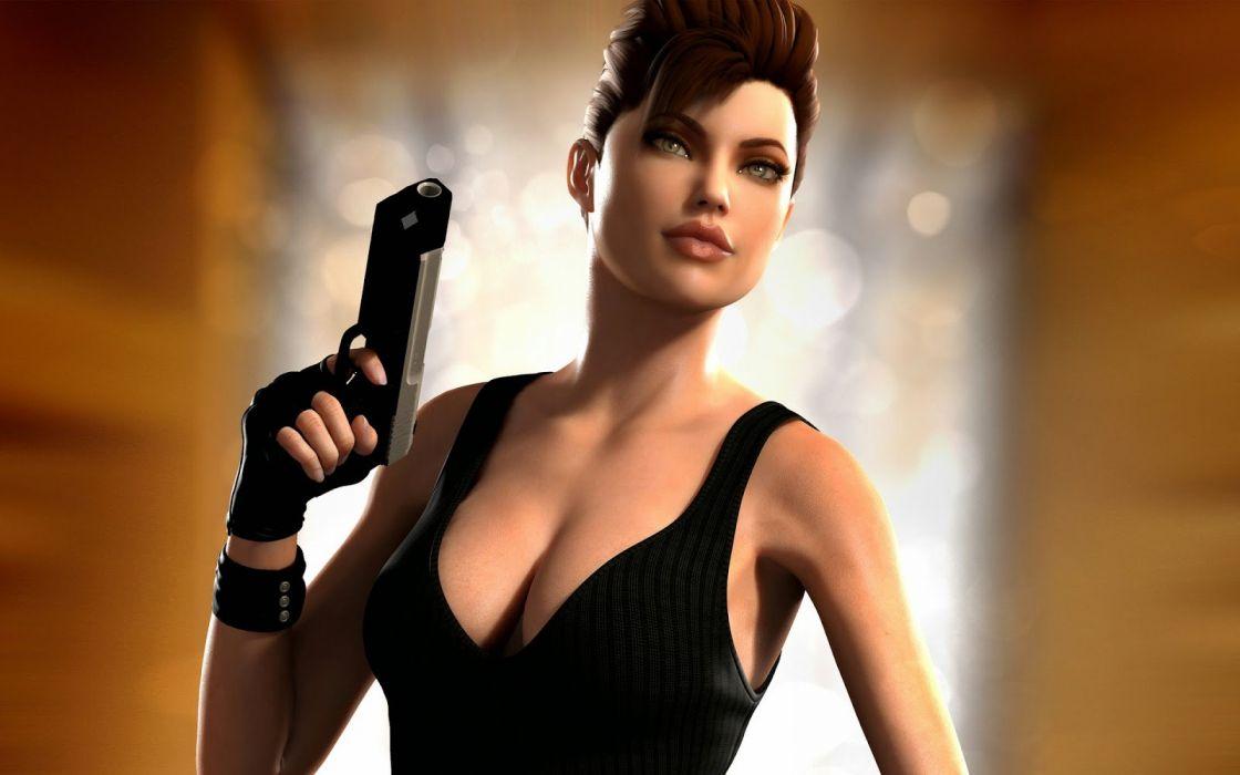 GAMES - Angelina Jolie Lara Croft girl Tonb Rider wallpaper