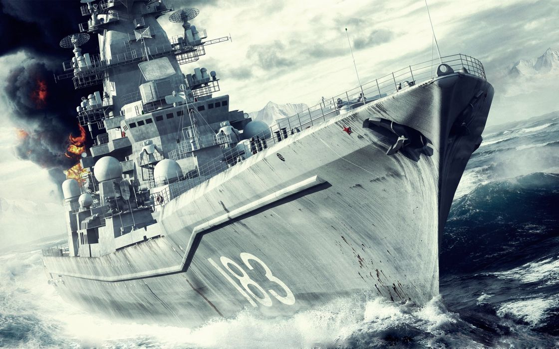 Warship battleship wars destructive sea movies ocean fires Shelling ship watercrafts wallpaper
