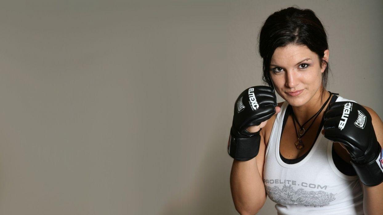 SPORTS - Gina Carano fighter ufc mma glove wallpaper