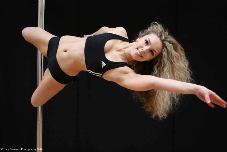 SPORTS - pole dance girl blonde viaduct wallpaper