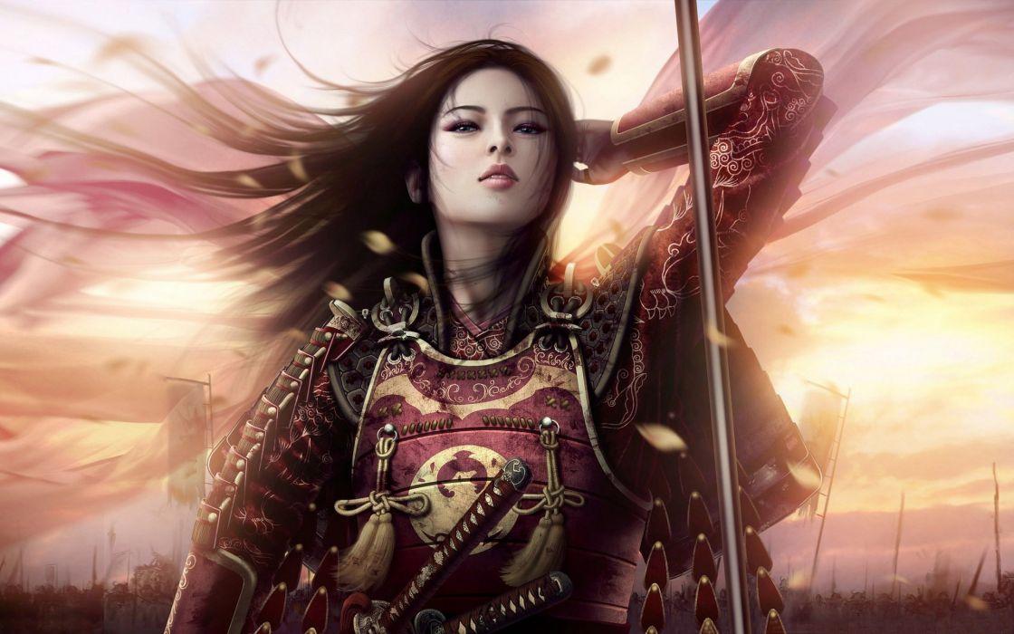 All Asian fantasy art women warriors suggest you