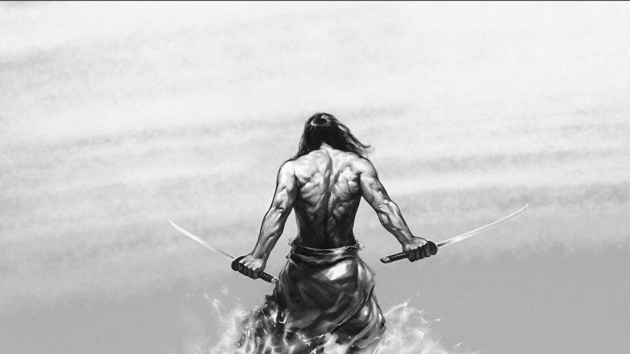 Samurai warrior fantasy art artwork asian wallpaper