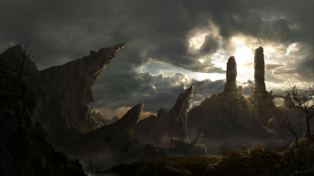 Fantasy Landscape Art Artwork Nature Scenery Wallpaper 2560x1440 666578 Wallpaperup