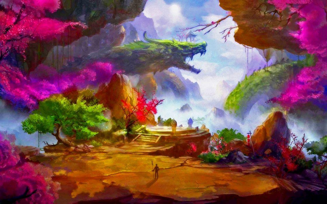 fantasy landscape art artwork nature scenery wallpaper