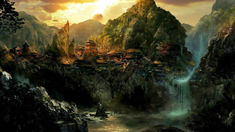 dragon landscape scenic wallpaper - photo #12