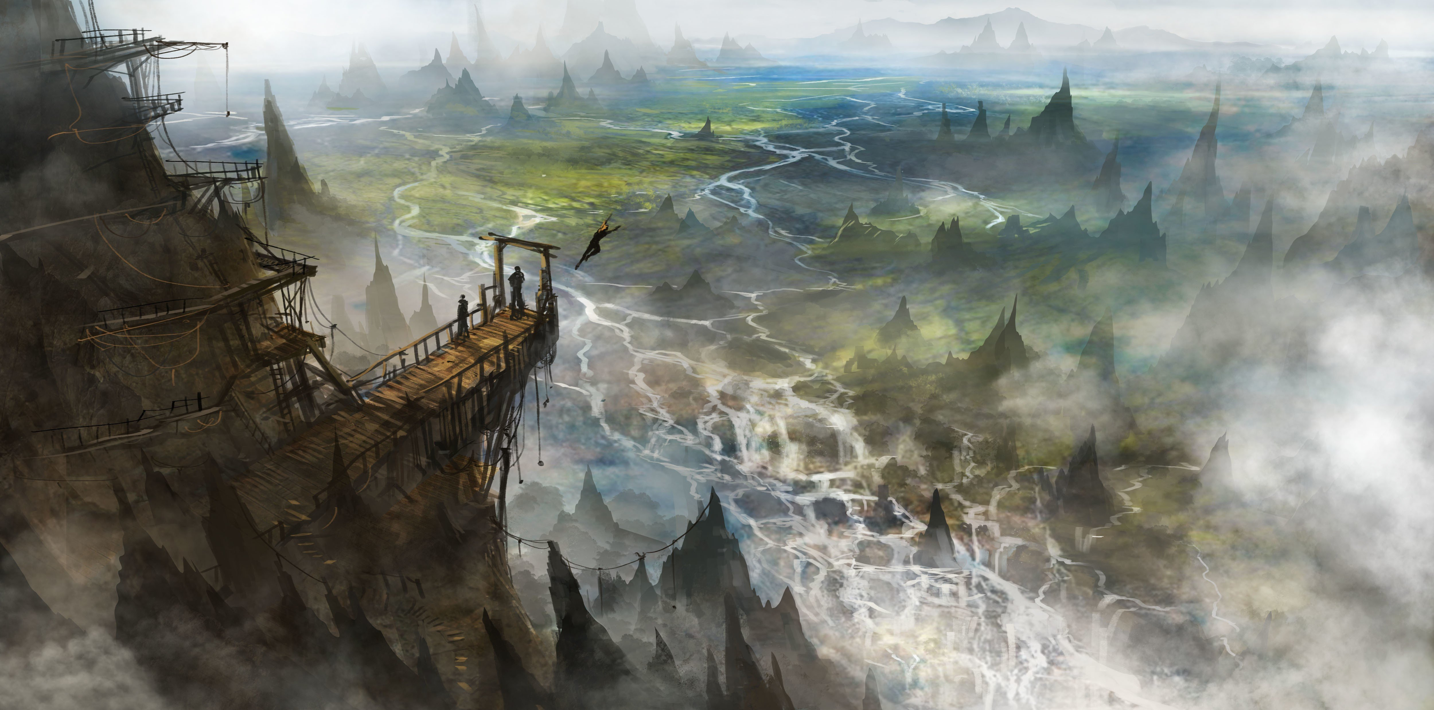 Fantasy Landscape Art Artwork Nature Scenery Wallpaper 5000x2475 666664 Wallpaperup