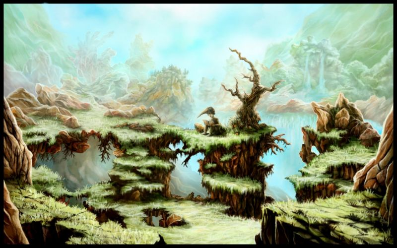 fantasy landscape art artwork nature scenery wallpaper