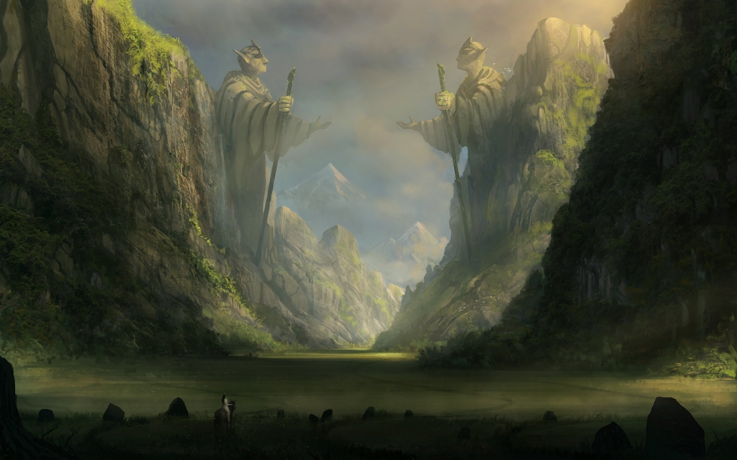 2560x1600 landscape drawing wallpaper - photo #3