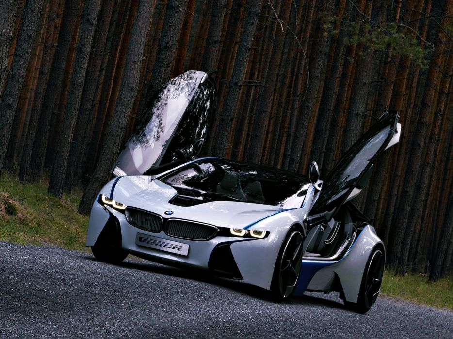 BMW Vision Efficient Dynamics Concept concept powerful beautiful limber cars supercars jungle trees road german wallpaper