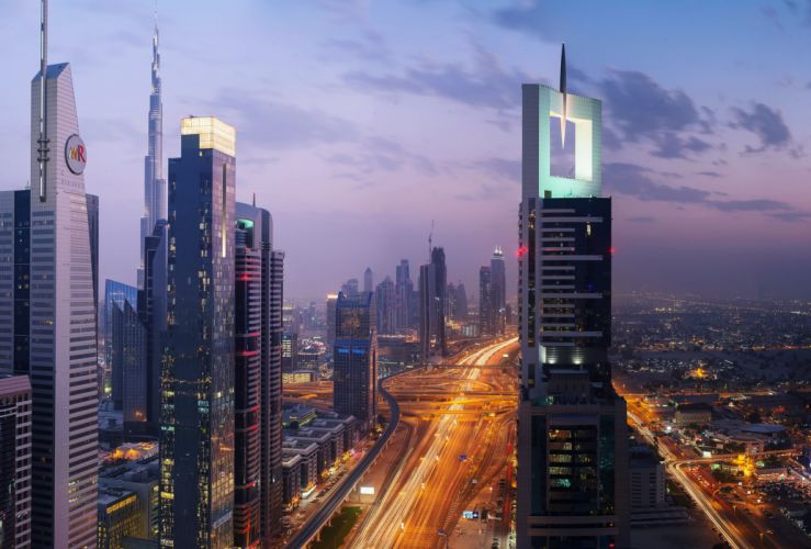 buildings Burj City Country development Dubai Evening Globalization gulf hotels Lights sky skyscrapers technology UAE Arab clouds wallpaper