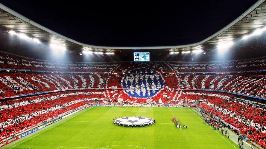 FC Bayern Munich 1900 Allianz Arena fans match football sports Bundesliga Champions League UEFA stadium wallpaper