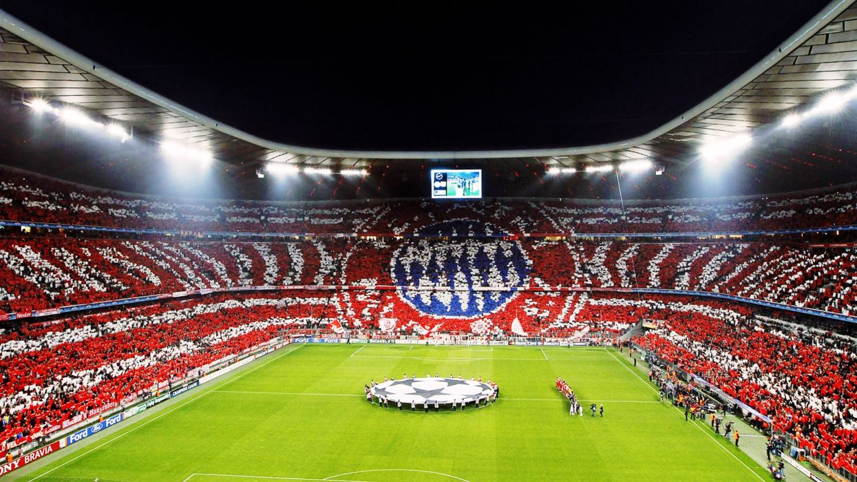 FC Bayern Munich 1900 Allianz Arena fans match football sports Bundesliga Champions League UEFA stadium wallpaper