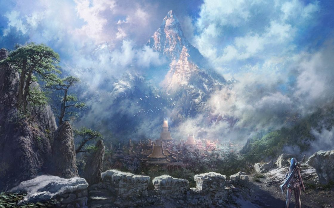 fantasy landscape art artwork nature wallpaper