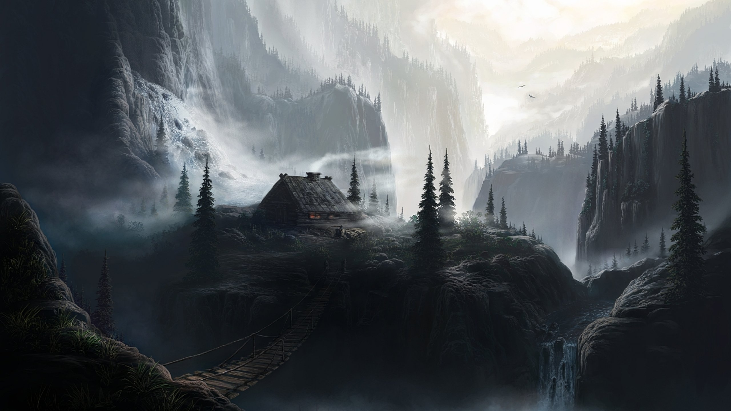 Fantasy Landscape Art Artwork Nature Wallpaper 2560x1440 667358 Wallpaperup