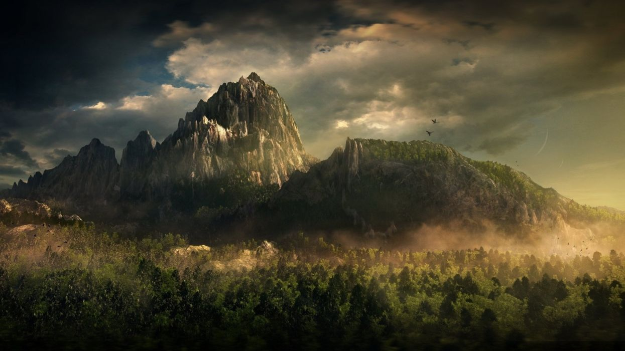 fantasy landscape art artwork nature wallpaper | 2560x1440 | 667381
