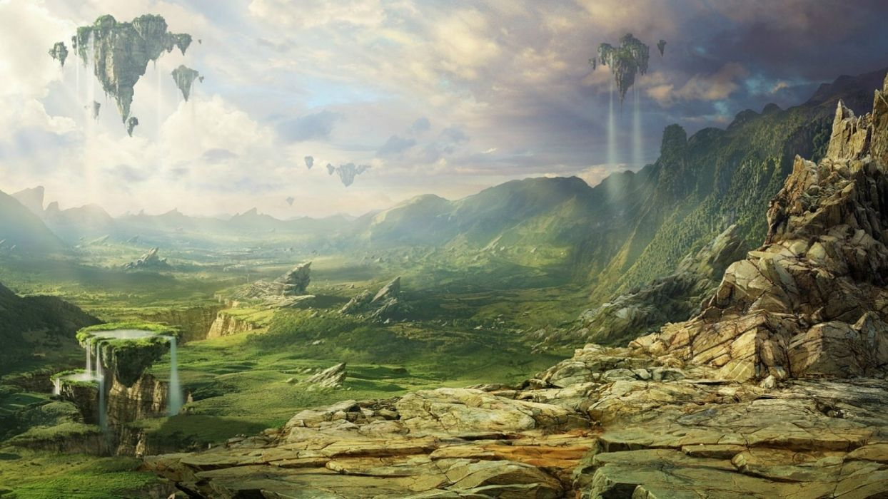 Fantasy Landscape Art Artwork Nature Wallpaper 1920x1080 667466