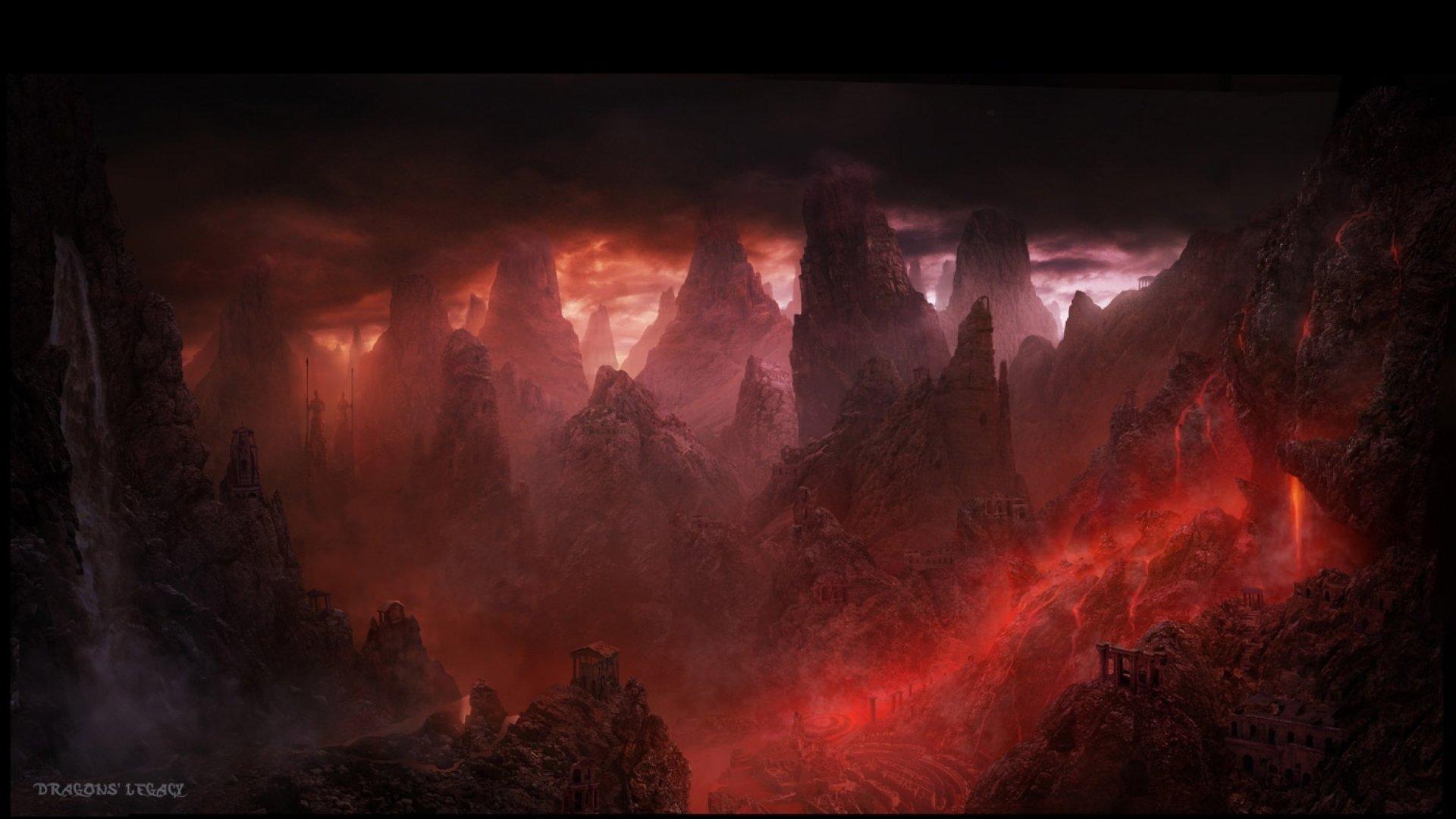 Fantasy Art Landscapes Mountains Fantasy Landscape Art