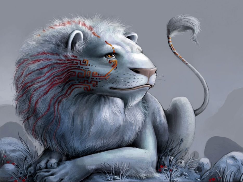 fantasy lion predator art artwork wallpaper
