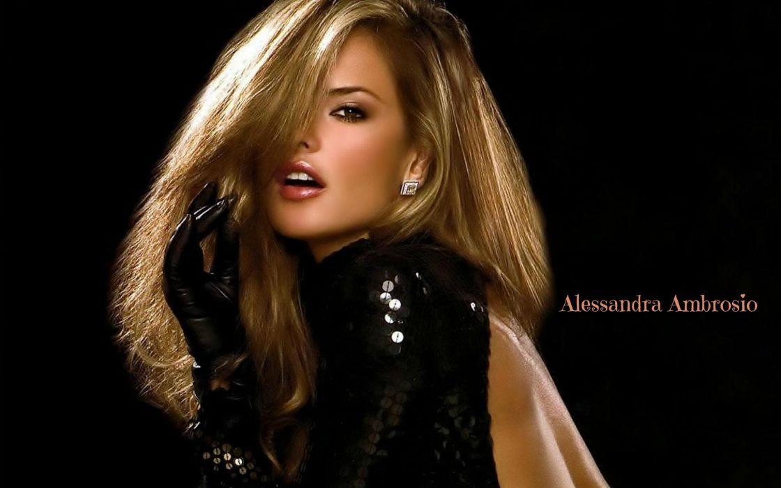 Alessandra Ambrosio girl blonde lips glove earring shine wallpaper