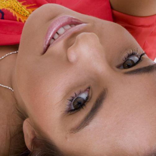 FACE - Veronika Fasterova girl brunette eyes eyebrows smile wallpaper