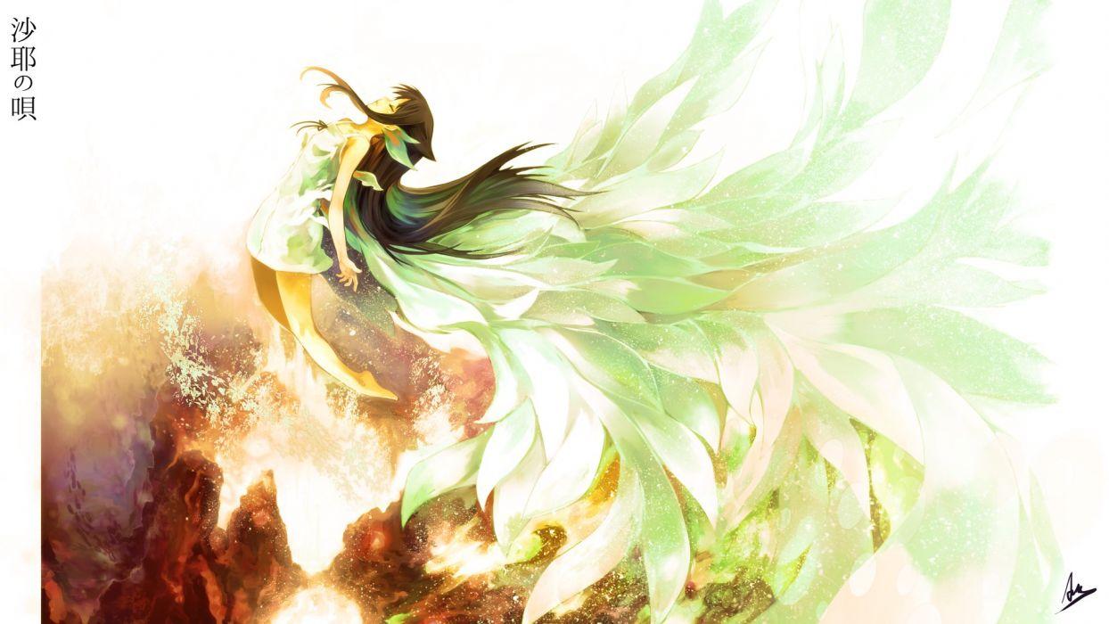 anime girl long hair dress wallpaper