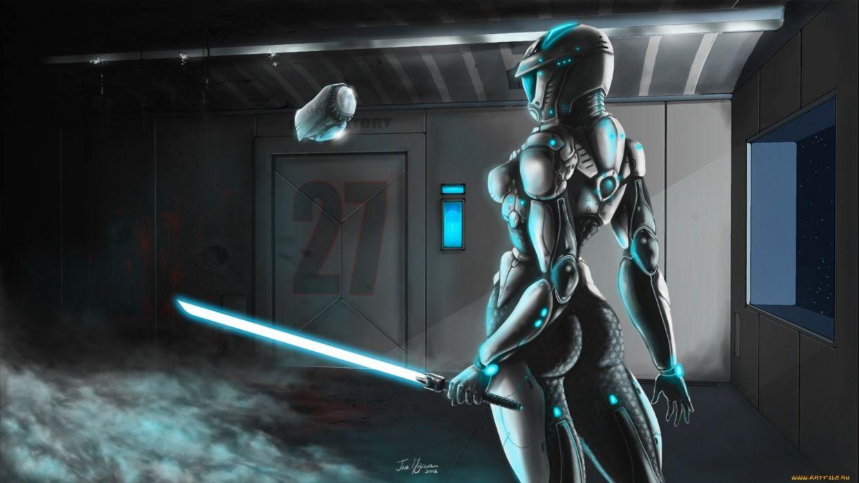 sci-fi warrior women futuristic art artwork girl wallpaper