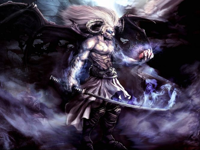 dark demon fantasy evil art artwork wallpaper