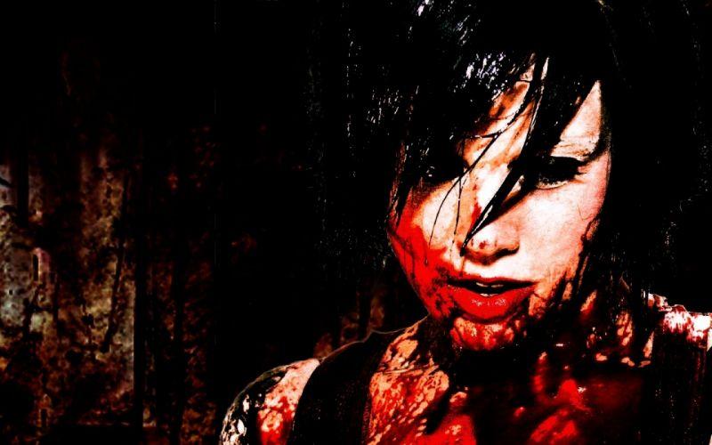 dark creepy scary horror evil blood wallpaper