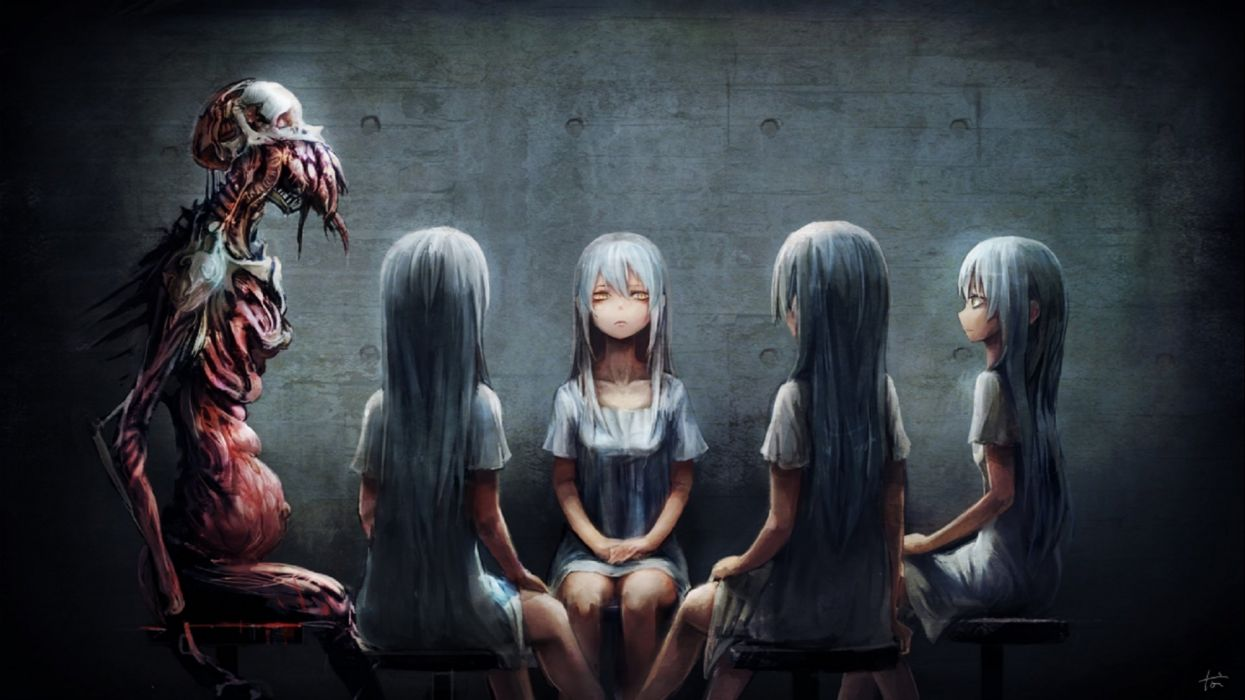 dark creepy scary horror evil wallpaper