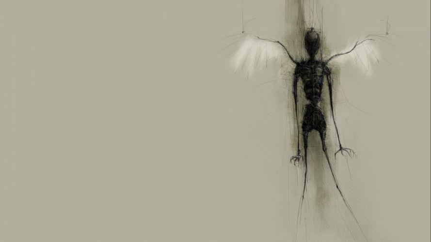 dark creepy scary horror evil wallpaper