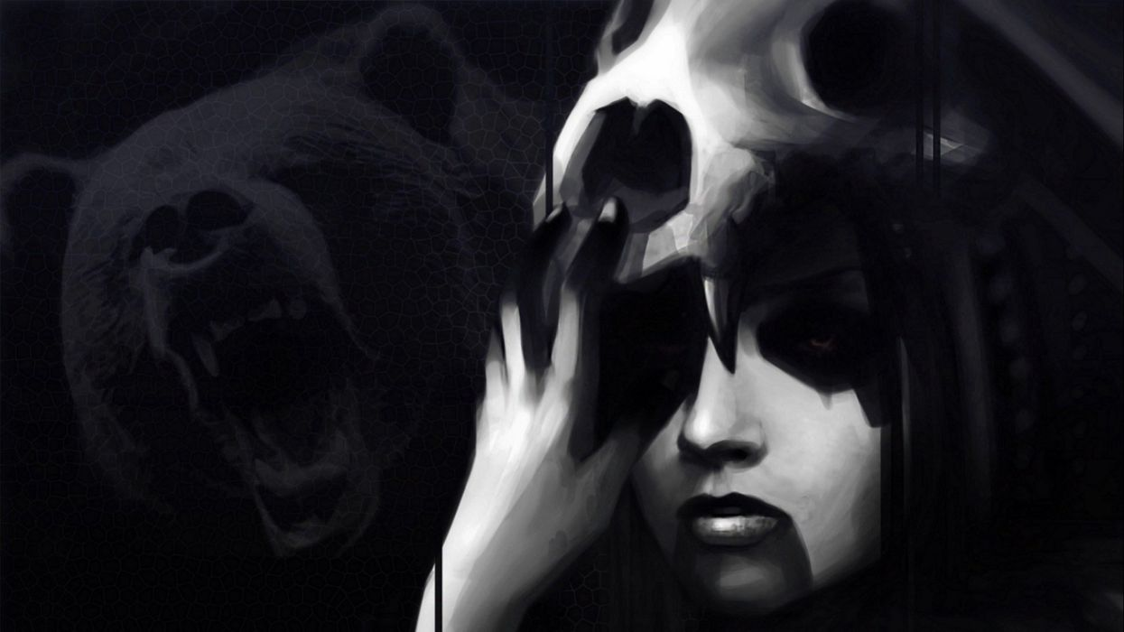dark creepy scary horror evil art artistic artwork h wallpaper
