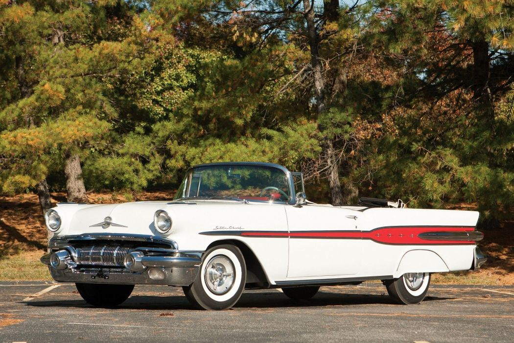 1957 Pontiac Star Chief Convertible cars classic wallpaper