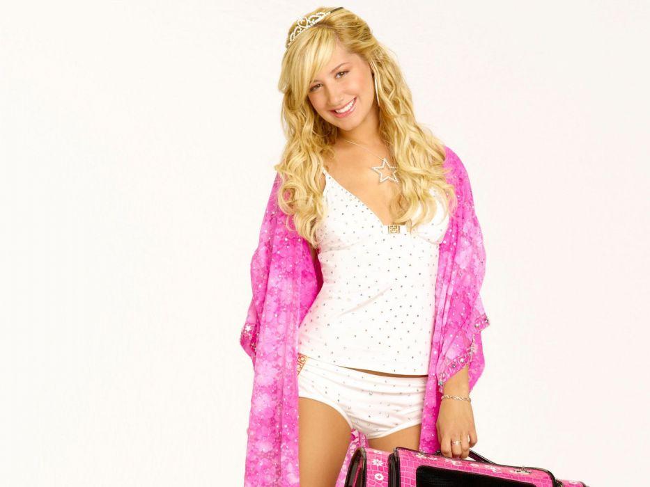 Ashley Tisdale girl blonde princess crown star wallpaper
