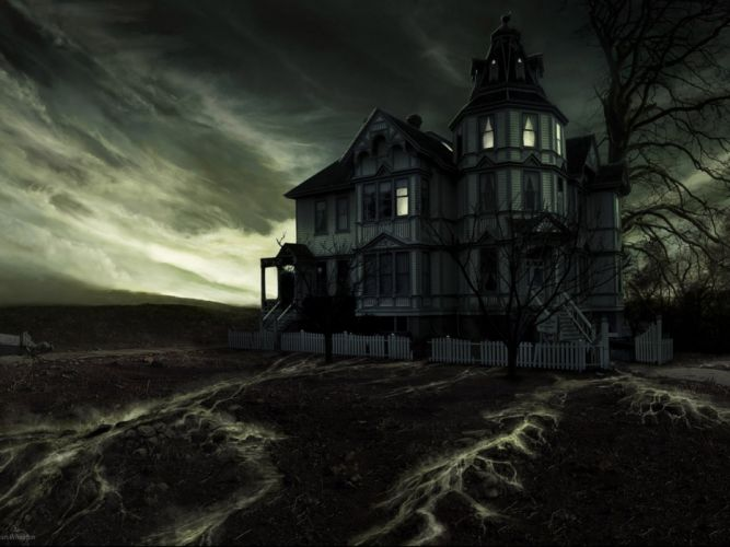 dark creepy scary horror evil art artwork wallpaper
