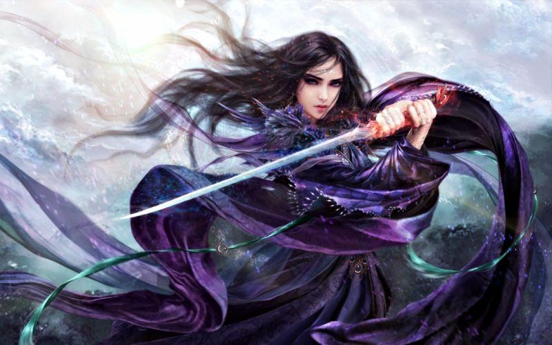 fantasy-girl--the-purple-rose wallpaper