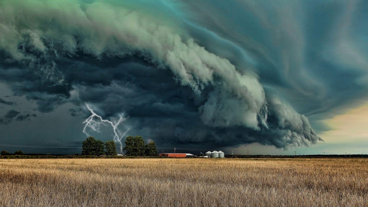 dark skies bad weather lightning tornado wallpaper | 1920x1080