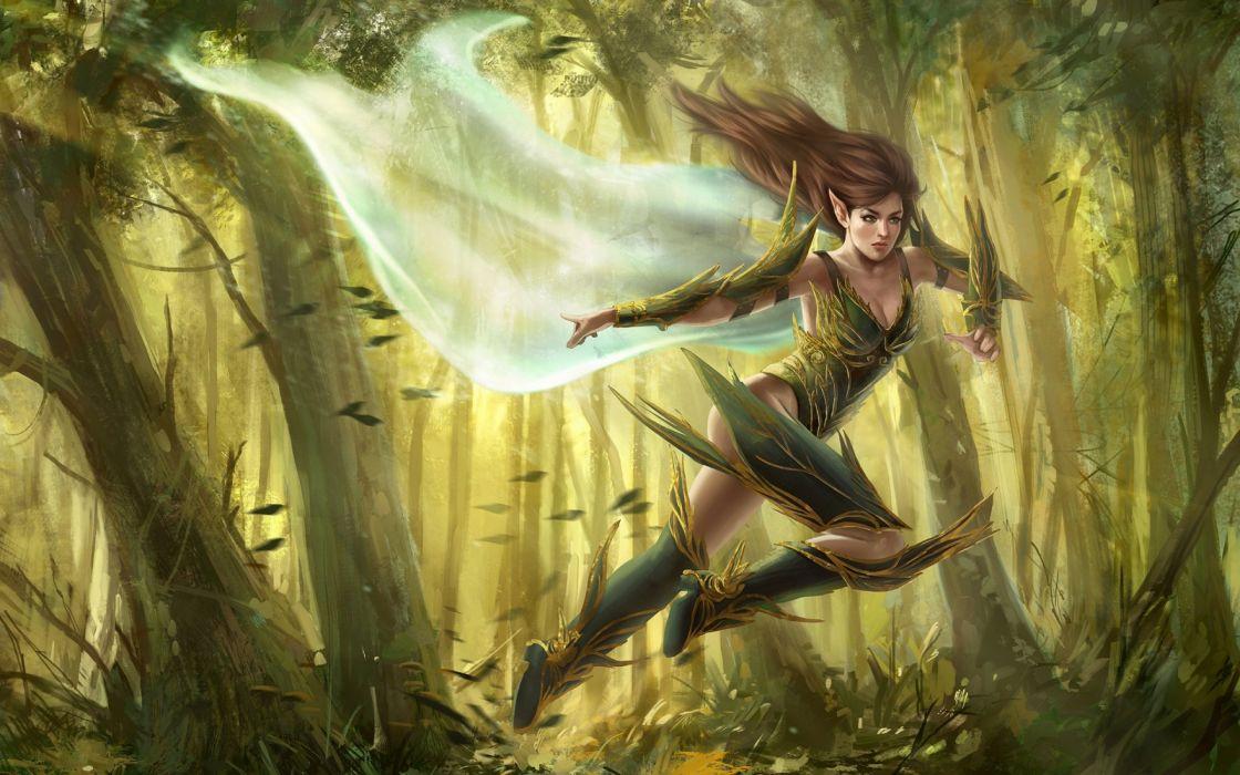Archer Warrior Elves Fantasy Art Wallpapers Hd: Elf Elves Fantasy Art Artistic Wallpaper