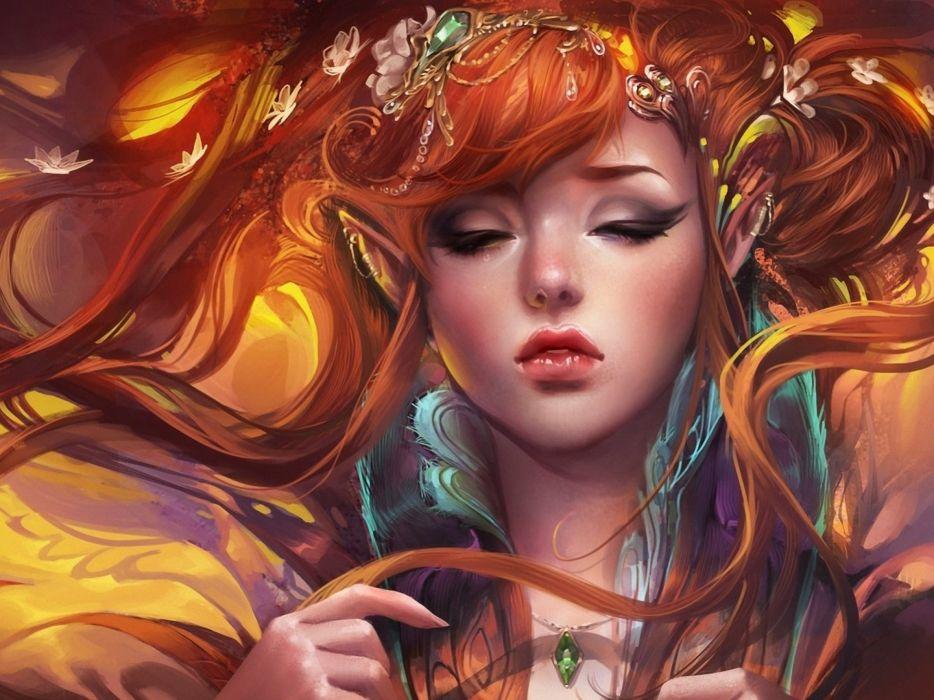 elf elves fantasy art artistic wallpaper