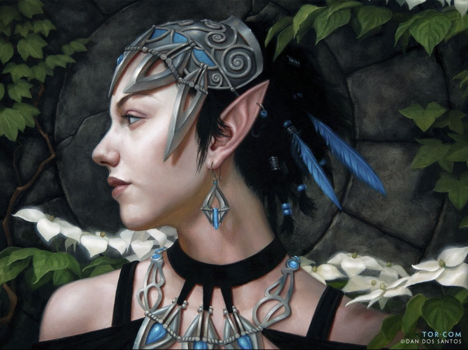 elf elves fantasy art artistic wallpaper