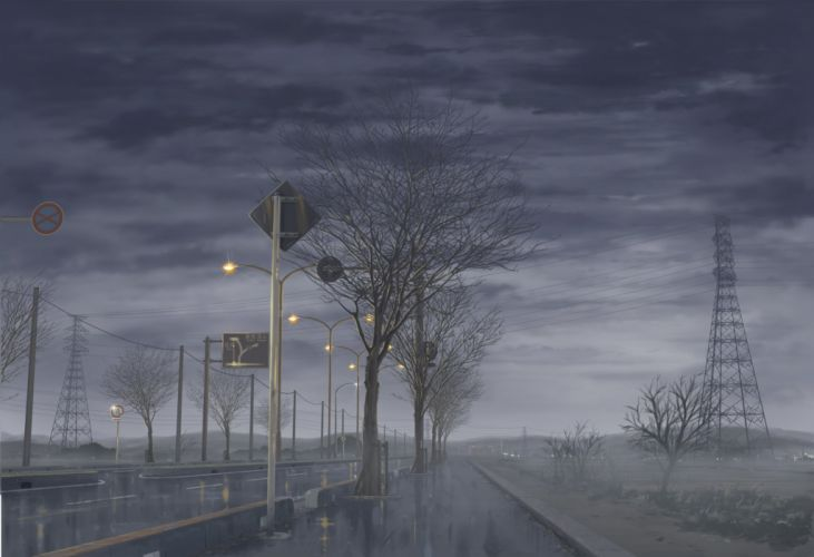 -original-isai+shizuka-highres-landscape-no+people-rain wallpaper