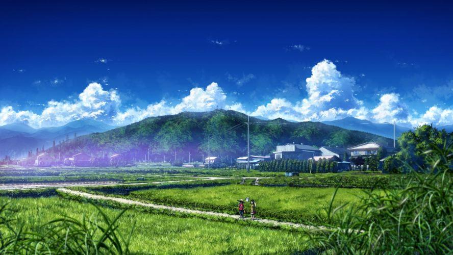 original-bokuden-wide+image-cloud+(clouds)-sky-landscape wallpaper
