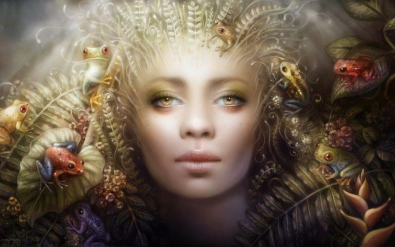 fantasy girl face beautiful wallpaper