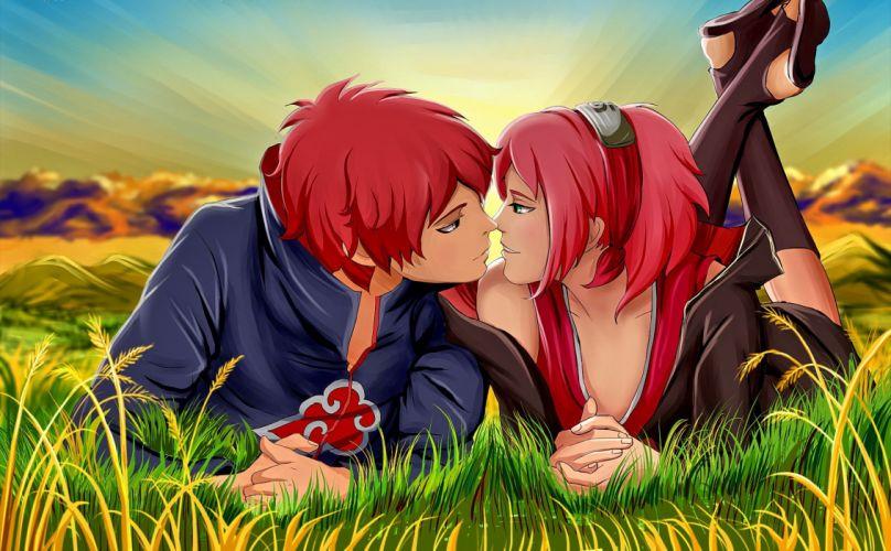 anime series naruto couple wallpaper