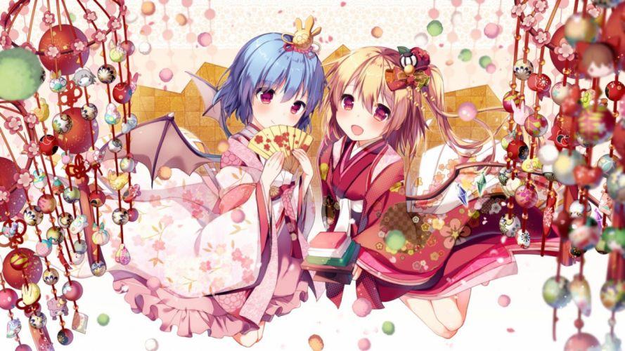 anime girls dress wallpaper
